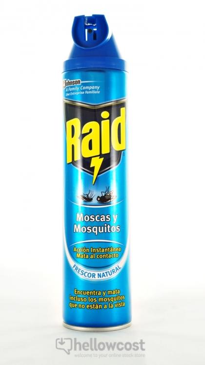 Raid anti mouches et moustiques spray 600 ml hellowcost - Raid anti moustique ...