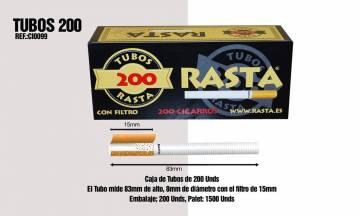 Rasta Tube À Cigarette 200 Uni