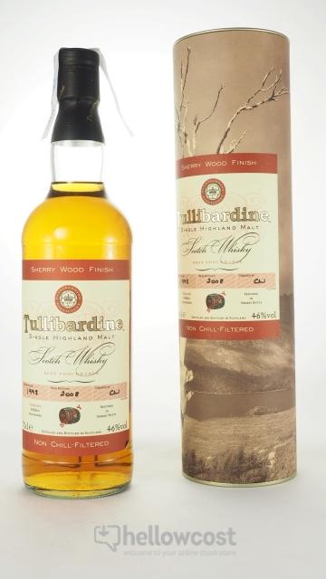 Tullibardine Sherry Wood Finish Whisky 1993 46º 70 Cl