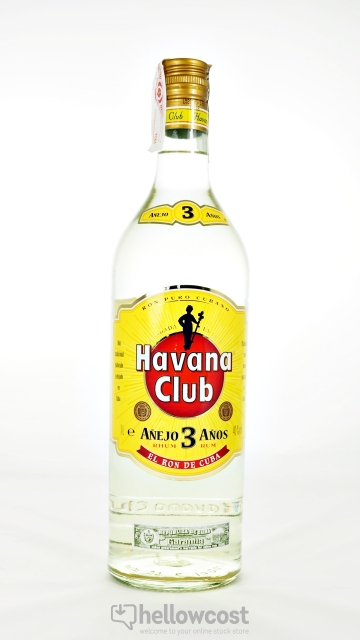 Havana Club 3 Years Rhum Blanc 40º 1 Litre