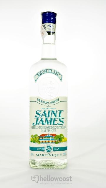 Saint James Rhum Blanc Agricole 55º 1 Litre