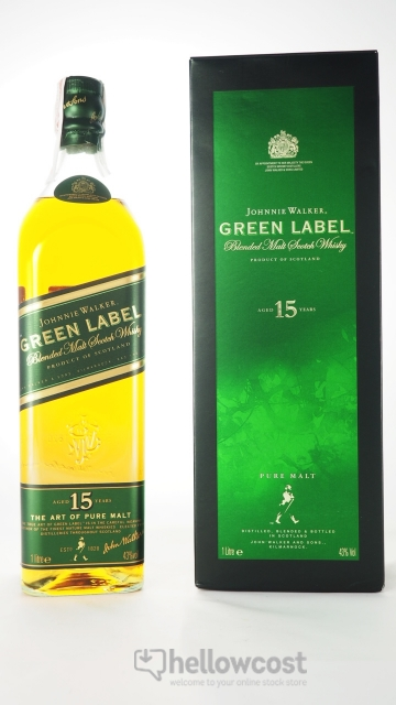 Johnnie Walker Green Label 15 Years Whisky 43º 1 Litre