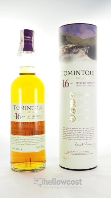 Tomintoul 16 Ans The Gentle Dram Whisky 40% 100 Cl