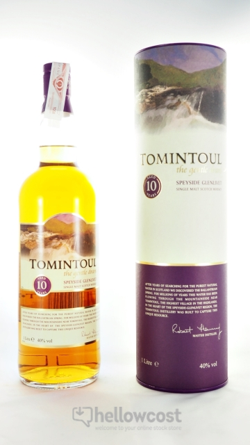 Tomintoul 10 Ans Whisky The Gentle Dram 40% 100 Cl