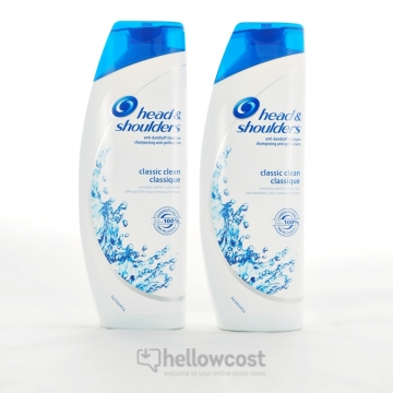 2 X Shampooing Antipelliculaire Pour Cheveux Normaux, Classic - Head & Shoulders 400 Ml