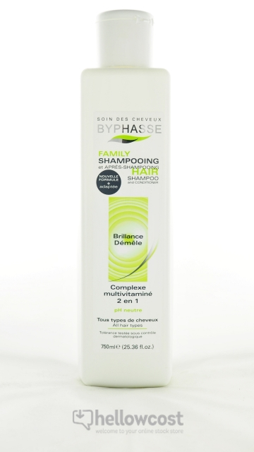 Le Shampooing 2 En 1 Byphasse 750 Ml