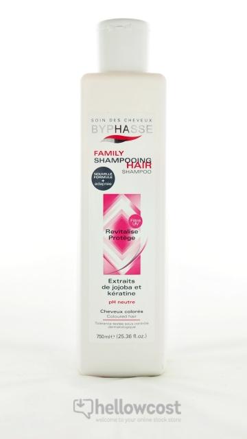 Byphasse Shampooing Family Pour Cheveux Colorés 750 Ml