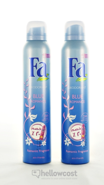 2 X Fa Spray Déodorant Blue Romance - 200 Ml