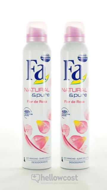 Deo. Spray Fa Narural & Pure 2 X 200 Ml