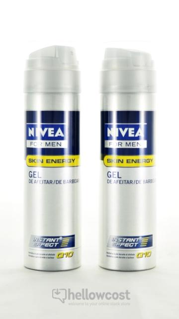 Gel À Raser Q10 Anti-Fatigue Nívea 2X200 Ml