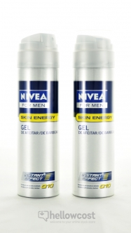 Nivea Gel À Raser Q10 Skyn Energy 2x200 ml - Hellowcost