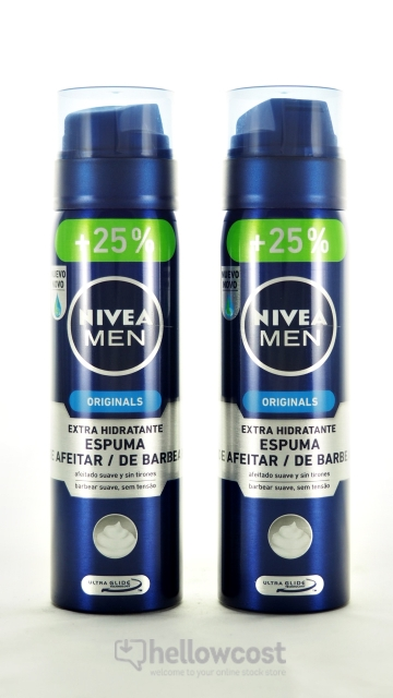 Mousse À Raser Hydratante Nivea For Men 2X200+50 Ml