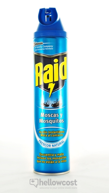 raid anti mouches et moustiques spray 600 ml hellowcost. Black Bedroom Furniture Sets. Home Design Ideas