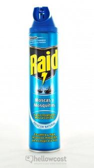 Raid Anti Mouches Et Moustiques Spray 600 ml - Hellowcost