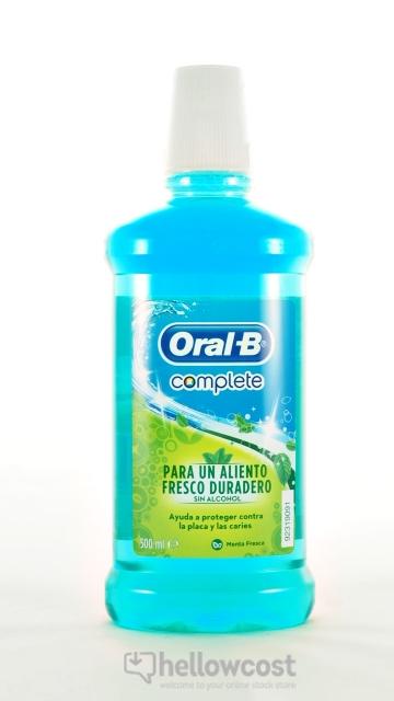Oral-B Bain De Bouche Complete Menthe Fraîche 500 ml