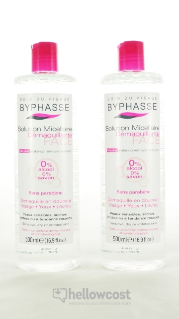2X Byphasse Solution Micellaire Démaquillante 500 Ml