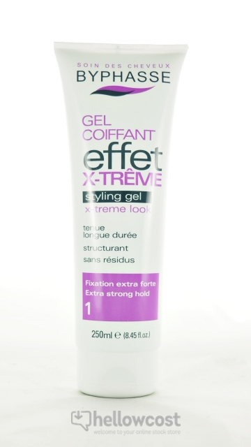 Byphasse Gel Coiffant Effet Extreme Fixation Extra Forte 250 ml