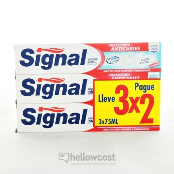 2X Dentifrice Signal Protection Caries 75 Ml
