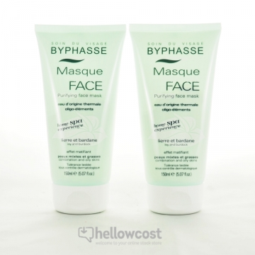 Byphasse Home Spa Experience Masque Purifiant Visage Peaux Mixtes À Grasses 2X150 ml