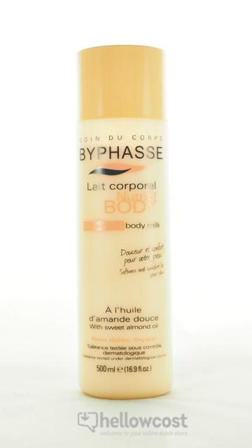 Byphasse Lait Corporel Nutritif À L'huile D'amande Douce Peaux Sèches 500ml