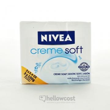 Savon Crème Soft Nivea 3X100 Gr