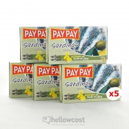 Pay Pay Sardines A La Tomate Poids Net 5X120gr - Hellowcost