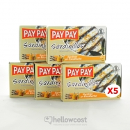 Pay Pay Petites Sardines A L'huile De Tournesol Poids Net 5X90gr - Hellowcost