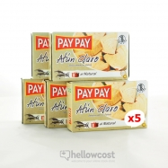 Pay Pay Thon Clair Au Naturel Poids Net 5X111gr - Hellowcost