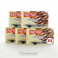 Pay Pay Calmars Entiers Farcis À L'ancre Poids Net 5X115gr - Hellowcost