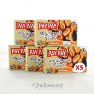 Pay Pay Moules En Sauce Marinade Poids Net 5X115gr - Hellowcost