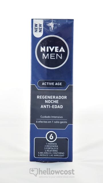 Soin De Nuit Régénérant Active Age Nivea 50 Ml