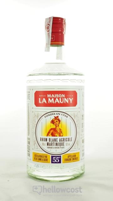 La Mauny Rhum Blanc Agricole 55º 1 Litre