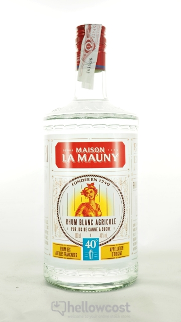 La Mauny Rhum Blanc Agricole 40º 1 Litre