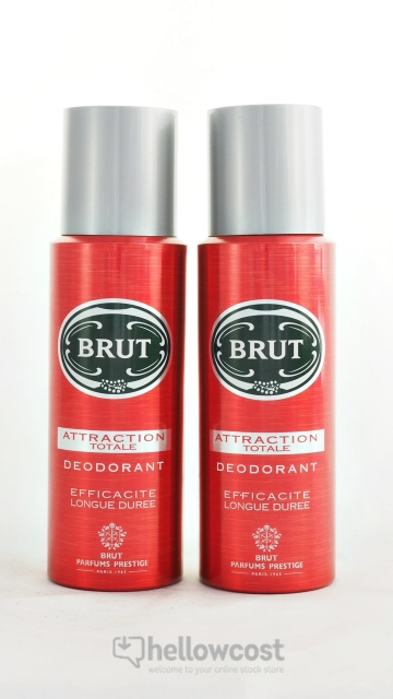 Brut Attraction Totale Deodorant Spray 2X 200 ml