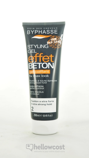 Byphasse Gel Coiffant Effet Béton Fixation X-Xtra Forte 250 ml