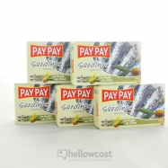 Pay Pay Sardines A L'huile D'olive Poids Net 5X120gr - Hellowcost