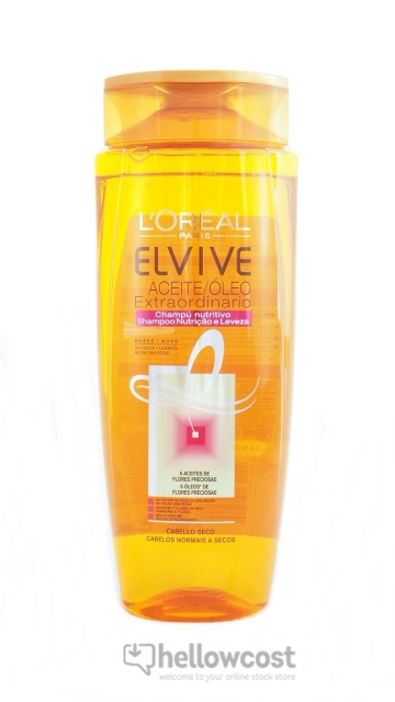 Elvive Shampooing Nutrition Huile Extraordinaire Cheveux Secs L'oreal 700 ml