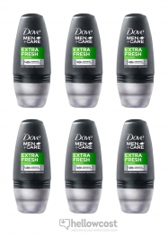 Dove Desodorante Extra Fresh Roll-On 6x50 ml - Hellowcost