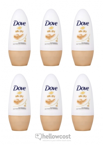Dove Deodorant Silk Dry bille 6x50 ml