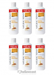 Natural Honey Gel De Ducha Extra Nutritivo 6X750 ml - Hellowcost