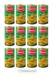 Serpis Olives Farcies Aux Anchois 300 gr Le Lot De 12 - Hellowcost