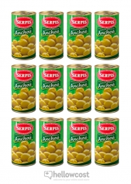 Serpis Olives Farcies Aux Anchois 350 gr Le Lot De 12 - Hellowcost