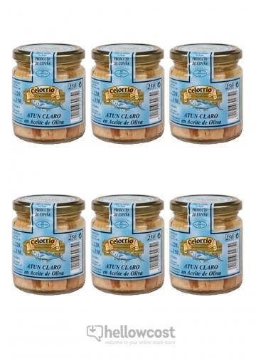 Celorrio Thon Clair A L'huile D'olive Lot De 6 Poids Net 220 Gr Poids Net Égoutté 160 Gr