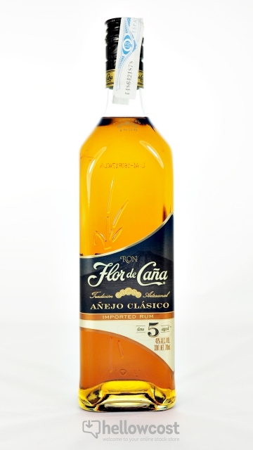 Flor De Caña Gold 5 Ans Rhum 40% 70 Cl