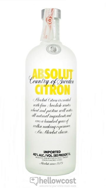 Absolut Citron Vodka 40% 1 Litre