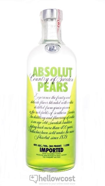 Absolut Pears Vodka 40% 1 Litre