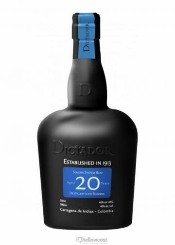 Dictador 20 Ans Rhum 40% 70 Cl