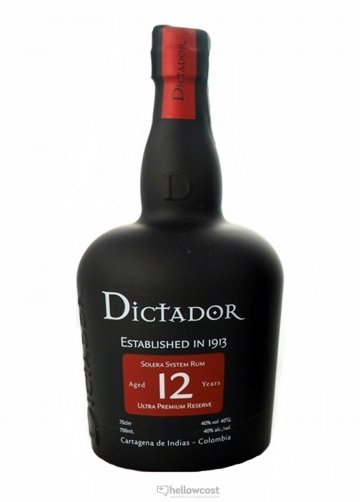Dictador 12 Ans Rhum 40% 70 Cl