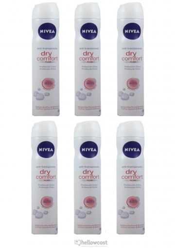 Nivea Deodorant Dry Comfort For Woman Spray 2x200 ml