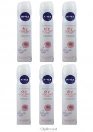 Nivea Deodorant Dry Comfort For Woman Spray 6x200 ml - Hellowcost